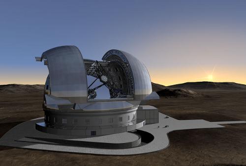 Vue d'artiste du futur ELT (extremely large telescope)