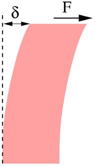 Solide élastique sous cisaillement