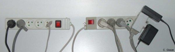 Exemples de blocs de prises à interrupteur